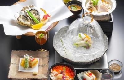 地元・広島の旬を五感で味わっていただける会席料理が好評です。
