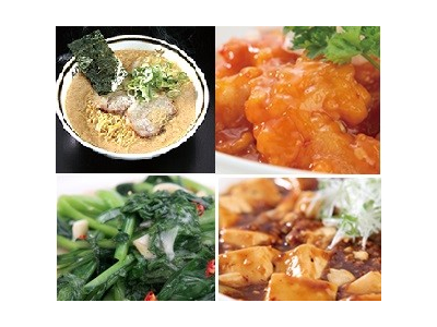 人気の「玉子とじラーメン」をはじめ、餃子、エビチリ、麻婆豆腐などが多彩にそろっています。