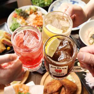 飲み放題はビールをはじめ、ハイボール、サワー、ワイン、日本酒など、約80種類のメニューがございます。