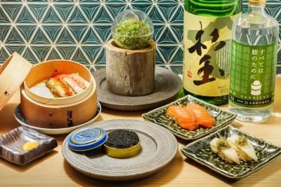 寿司の常識を覆すようなメニューの数々。見た目も味も自慢です!