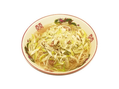 「ネギ豚上湯麺」は、お客様の声を参考にスタッフが考案。新商品の提案などもお任せします