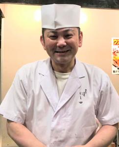 元ボクサーであり、寿司職人という異色の経歴をもつ店主・西田