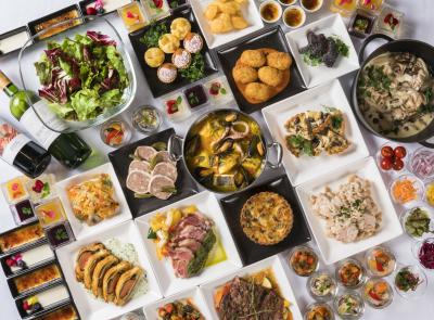 レストランでのブッフェ料理から宴会でのコース料理・卓盛料理など幅広く経験していただけます。