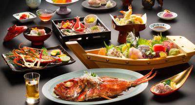 金目鯛など、伊豆の新鮮な山海の幸を使った和懐石をご提供しています。