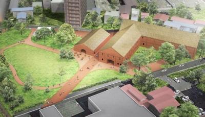 シードルゴールドの屋根が目印です。©Atelier Tsuyoshi Tane Architects