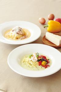 職人が毎日製麺する、モチモチの自家製麺を使用。塩・卵・スープ・オイルもこだわる生パスタが自慢です。