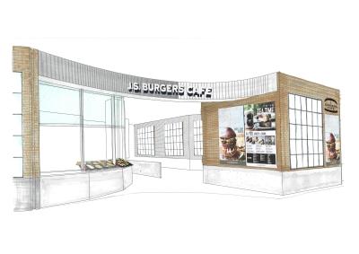 こちらが新店の完成予想ビジュアル。巨大アパレル企業が母体なので、おしゃれな空間で勤務できます♪