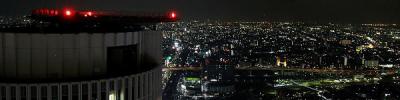 高層ビルの最上階からは名古屋市内の夜景が見渡せます。