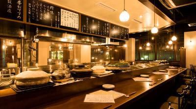 オープンキッチンのカウンターで、本格割烹さながらの和食調理をお願いします!