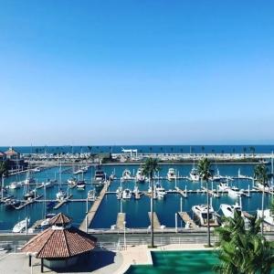 ホテルの目の前はヨットハーバーが広がる開放感あふれる景色。