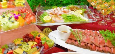 本格料理をビュッフェやコース料理もご提供しています。