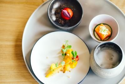 フレンチに和を取り入れ、「美味しい」を追求した創作料理