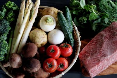 「食」を通じてまちおこし!島根の新鮮食材をふんだんに使用しています。