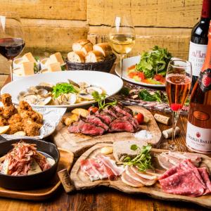 肉・魚・野菜…。全国各地のこだわり素材を扱うキッチンスタッフ募集!※画像はワイン&肉バルの料理の一例