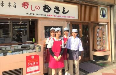 京都市内の回転寿司店『寿しのむさし』で、ホールスタッフ募集!未経験の方も歓迎します★
