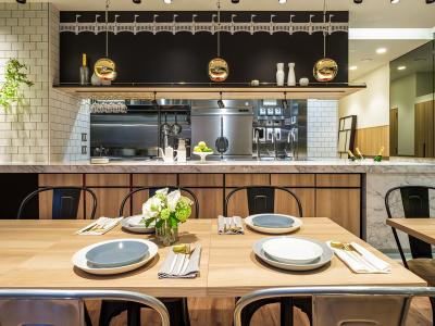 本社ビル1階のテストキッチン「MERYX Lab.」。セミナー・調理実習・イベントなどを実施。