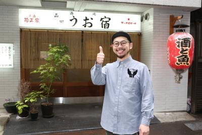 ▼マネージャー・山口。自分のお店を出したい人や飲食店を経営したい人もたくさん入社しています。