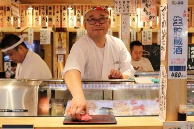 鮮度抜群の魚を、あなたの腕で、美味しい寿司にしてください。