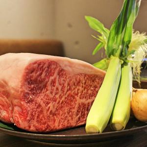 """幻の和牛と称される""""尾崎牛""""のさばき方からうまみを活かした調理法が身につくのは、当店ならでは!"""