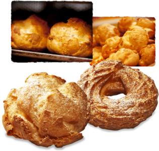 シューとなるパイ生地は、食べやすさとサクサク感を大事にした「練り込み型」を独自に開発。