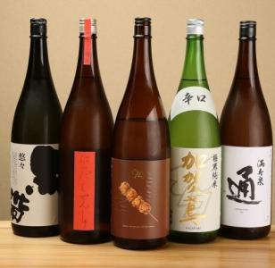 日本酒も豊富にご用意。お酒の知識も深まります。