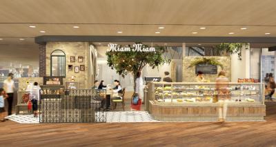 2018年4月1日 ルクアイーレ店(カフェ併設)りんごのシンボルツリーのある可愛いお店です!