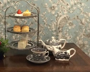 イギリスの童話から名付けた、イギリススタイルのカフェ。