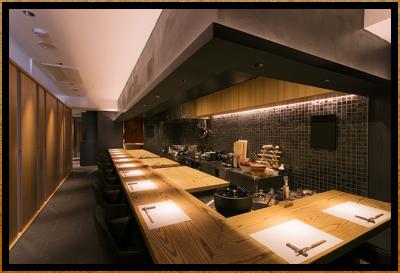"""当店では、遊び心を添えた新感覚の""""和""""の料理を提供しています!"""