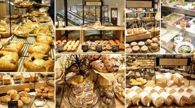 多彩な人気ベーカリーから厳選した50種類以上のパンがずらり。パン好きの方にとって夢のようなお店です☆