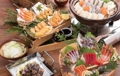 新鮮な魚介料理を提供します。全国から選りすぐりの日本酒、焼酎なども揃っています。