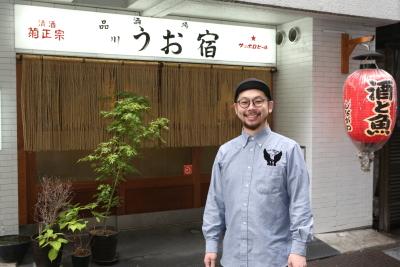▼部長・山口。自分のお店を出したい人や飲食店を経営したい人もたくさん入社しています。