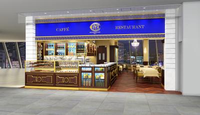 店舗デザインは、ミラノの本店を再現しています!