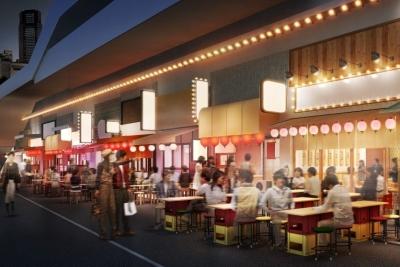 全長120メートルの大型横丁内に、全国のそれぞれのエリアの特色をアピールしたお店が誕生する予定です!