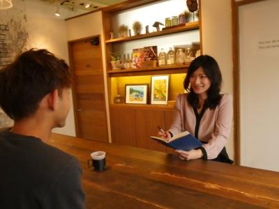 カフェでお茶スタイル?食事付き面接で、リラックス面接!