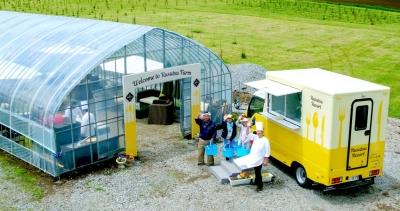 農業部門を持つ当社。新鮮な野菜や質の高い家畜を育てており、料理や加工品に使用しています。