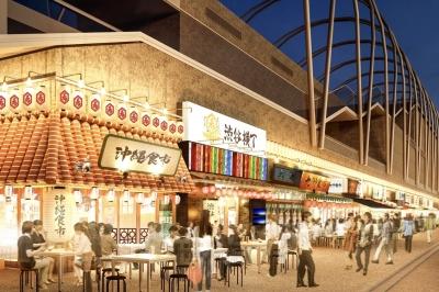 全長100メートルの大型横丁内に、全国のそれぞれのエリアの特色をアピールしたお店が誕生する予定です!
