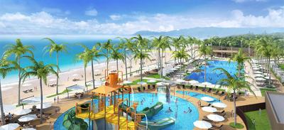 海沿いのリゾートホテル。南国の雰囲気にあふれた癒しの空間です。