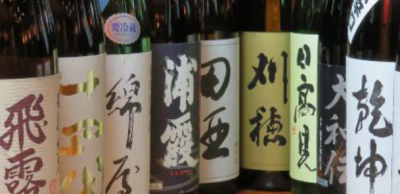料理に合う東北の地酒、特に宮城県を中心とした地酒も多数ご用意。