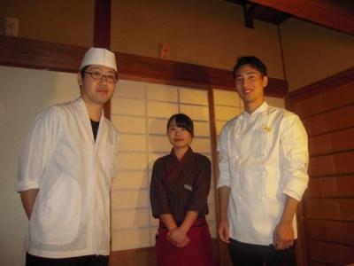 京の風情が感じられる店内。和食を基本から身につけ、一人前の料理人をめざそう!