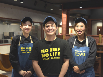 熊本・福岡でいま話題の炭焼きステーキ専門店で活躍しませんか!