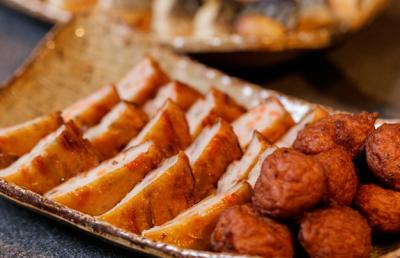 「鹿児島名物さつまあげ」は、朝食ビュッフェの定番メニューのひとつ
