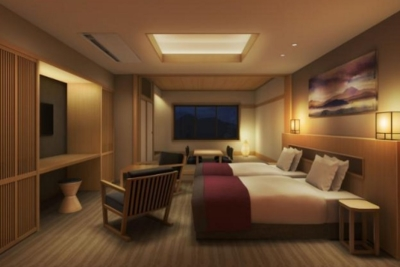 """箱根の静寂な森の中に佇む、""""バーに泊まる""""がコンセプトのホテルです。"""