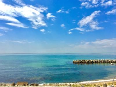 目の前は美しい海が広がります。自然に囲まれ心癒されながら働くことができますよ。スタッフ仲もバツグン!