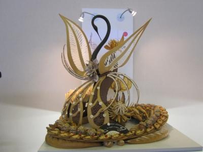 その高い技術力で2012年のクープ・デュ・モンド優勝を勝ち取った、神戸屋スタッフによるパンのオブジェ
