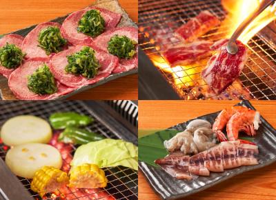 鹿児島県内の生産者が育てた、4等級以上の鹿児島県産の黒毛和牛を使用した焼肉店。