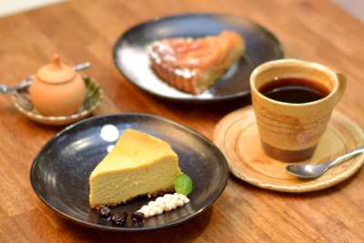 デザートにも甜菜糖など体に優しい素材を使って手作りしています