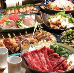大山鶏串や肉巻串など、串焼の種類を豊富にそろえています