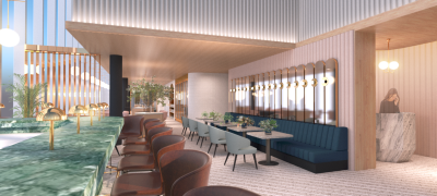 博多の景色がのぞめるホテル最上階のレストランでマネージャー候補として活躍!