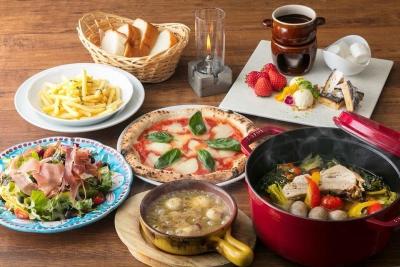 特製ピッツァ窯で焼いたピッツァなど、本格的なイタリアンをリーズナブルにご提供。