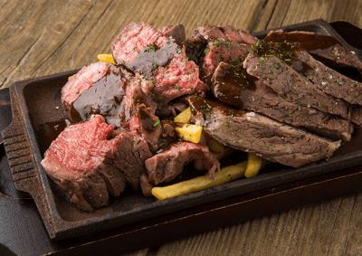 国産牛のみかわビーフを一頭買いして提供する お肉料理